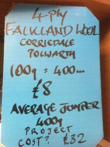 Details of Falklands 4-ply wool