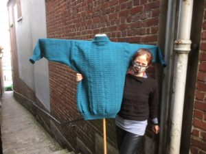 Hand-knitted traditional Gansey