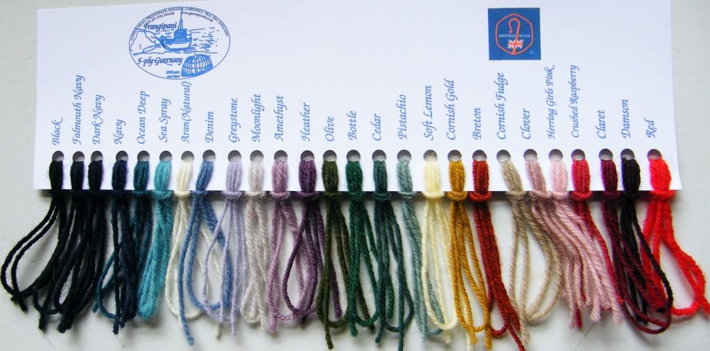 Frangipani colour card.