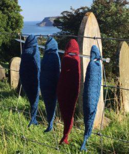 Knitted herring by Anita Bruce