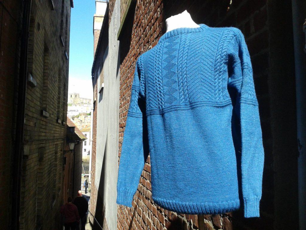 Hand-knitted Gansey