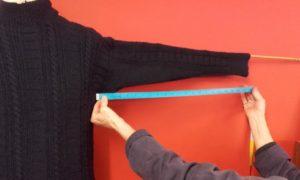 Underarm to cuff measurement